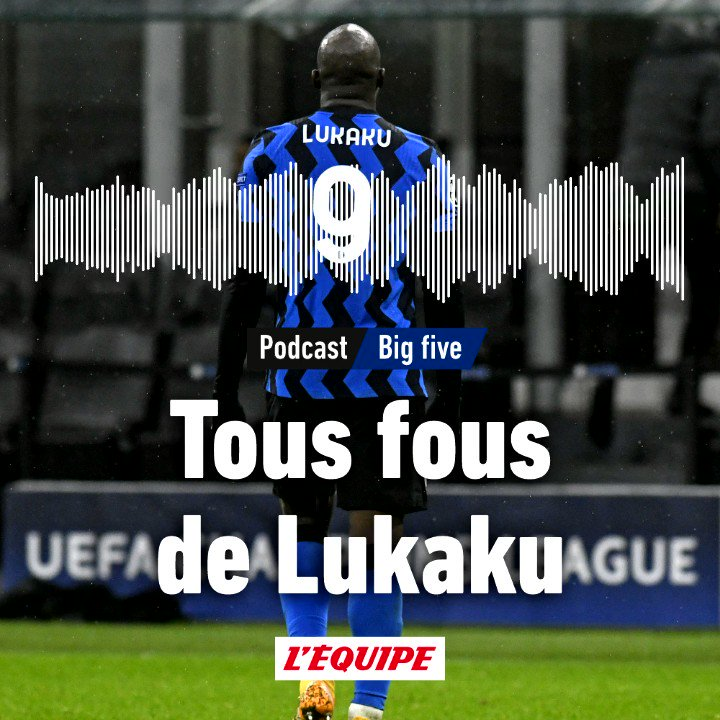 🎙⚽️ Big five, le podcast foot de L'Équipe : Romelu Lukaku, voyage au centre de l'Inter  ⚡️ Le Belge est devenu un buteur plus complet et chaque saison plus subtil : par quels moyens en est-il arrivé là ?   Éléments de réponse 👉