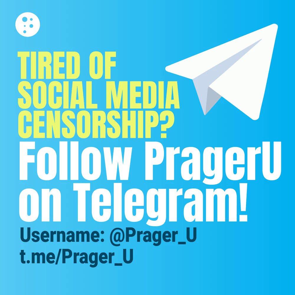 Image for the Tweet beginning: 🚨 PragerU is on Telegram