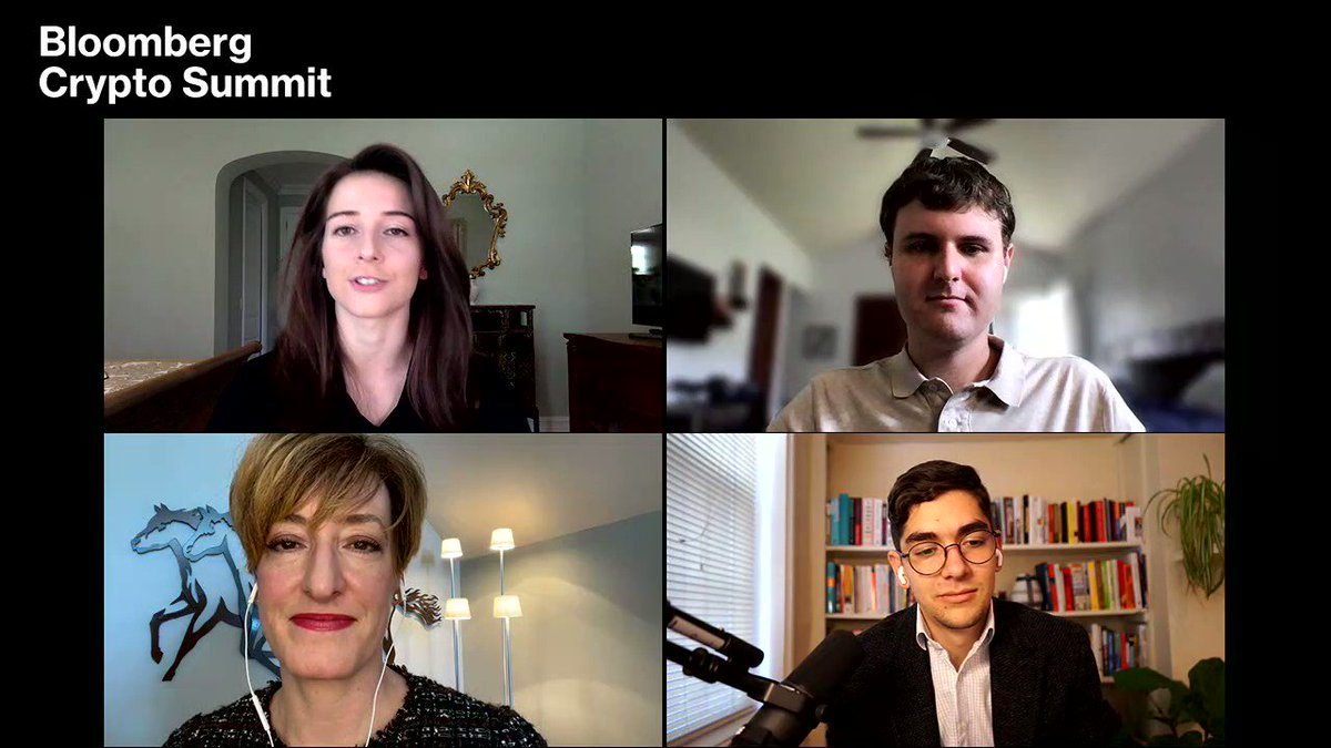 """Where does #Bitcoin derive its value from? """"From scarcity and network effects - its value is entirely subjective."""" @AvantiBT Founder & CEO @CaitlinLong_ #BloombergCrypto"""