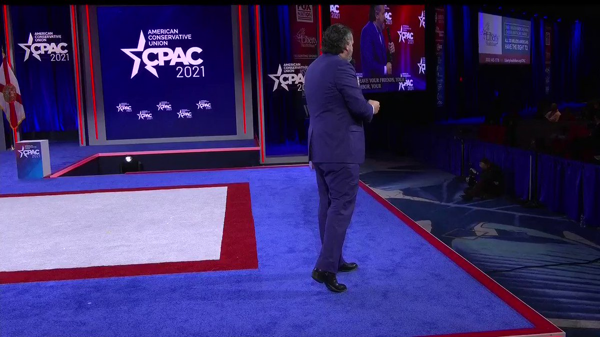 FREEDOM! Senator @tedcruz finishes his #CPAC2021 speech strong with some encouraging words for the future of conservatism. #CPAC2021 #AmericaUnCanceled