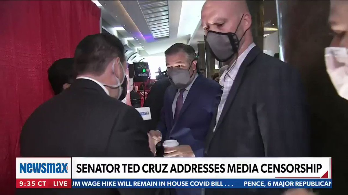 """""""This a powerful display of rebellion. We're going to stand for freedom without being silenced.""""  WATCH: @tedcruz tells Newsmax TV about CPAC and the Biden administration 'embracing' China."""