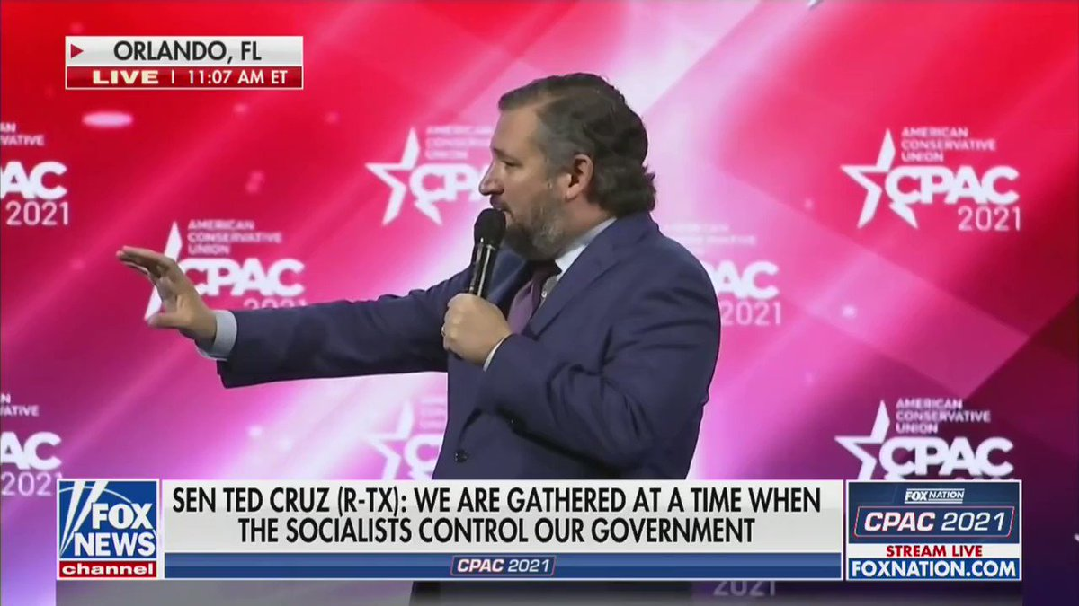 Replying to @bennyjohnson: Pure 🔥 from @TedCruz
