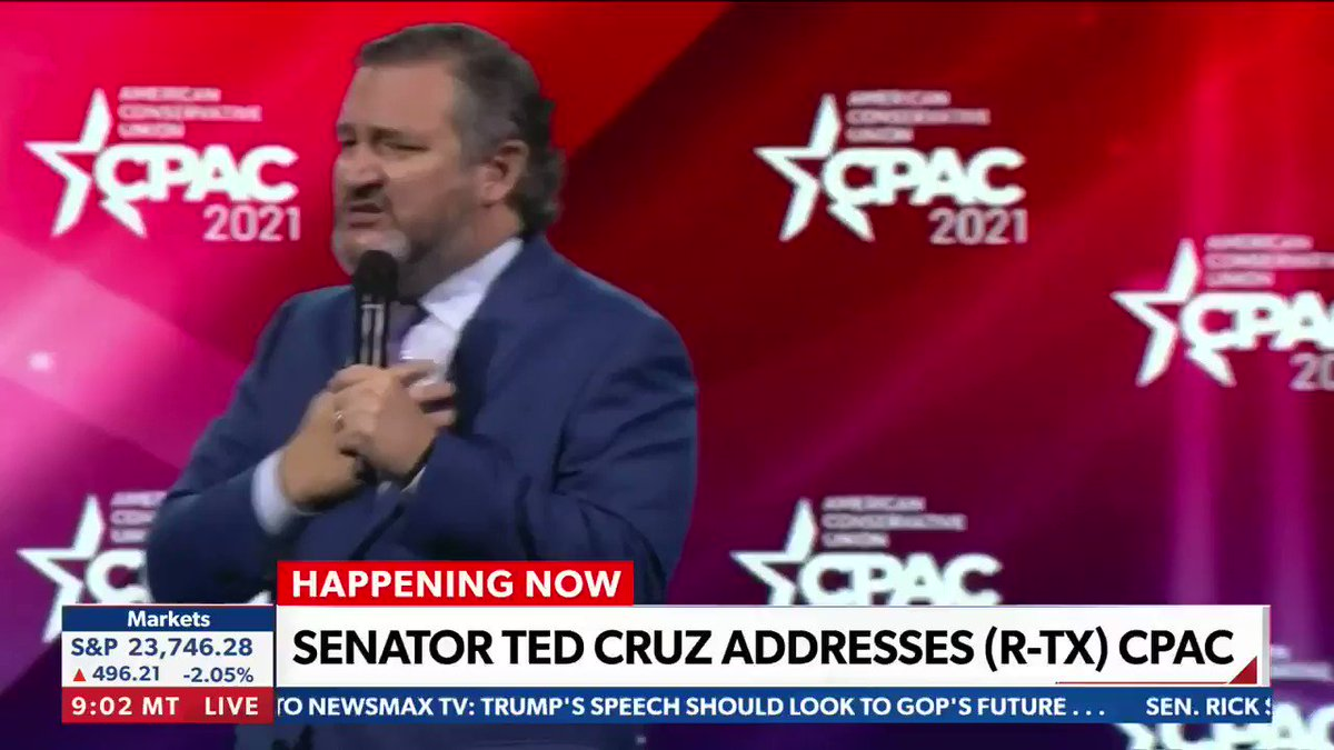 """'FREEDOM!': @SenTedCruz tells @CPAC """"speak out for freedom...these are dark days and the media tells us this is the new 'Galactic Empire'."""" 🚀"""