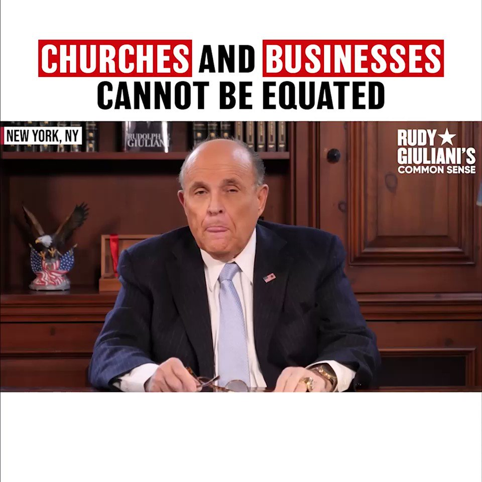 Churches and businesses cannot be equated! Watch this full episode at RudysCommonSense.com