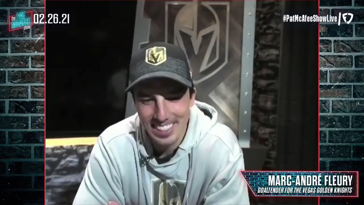 Marc Andre Fleury HUGE prank guy  Also big F bomb guy   He loves messing with teammates hotel rooms 😂😂😂 #PatMcAfeeShowLIVE