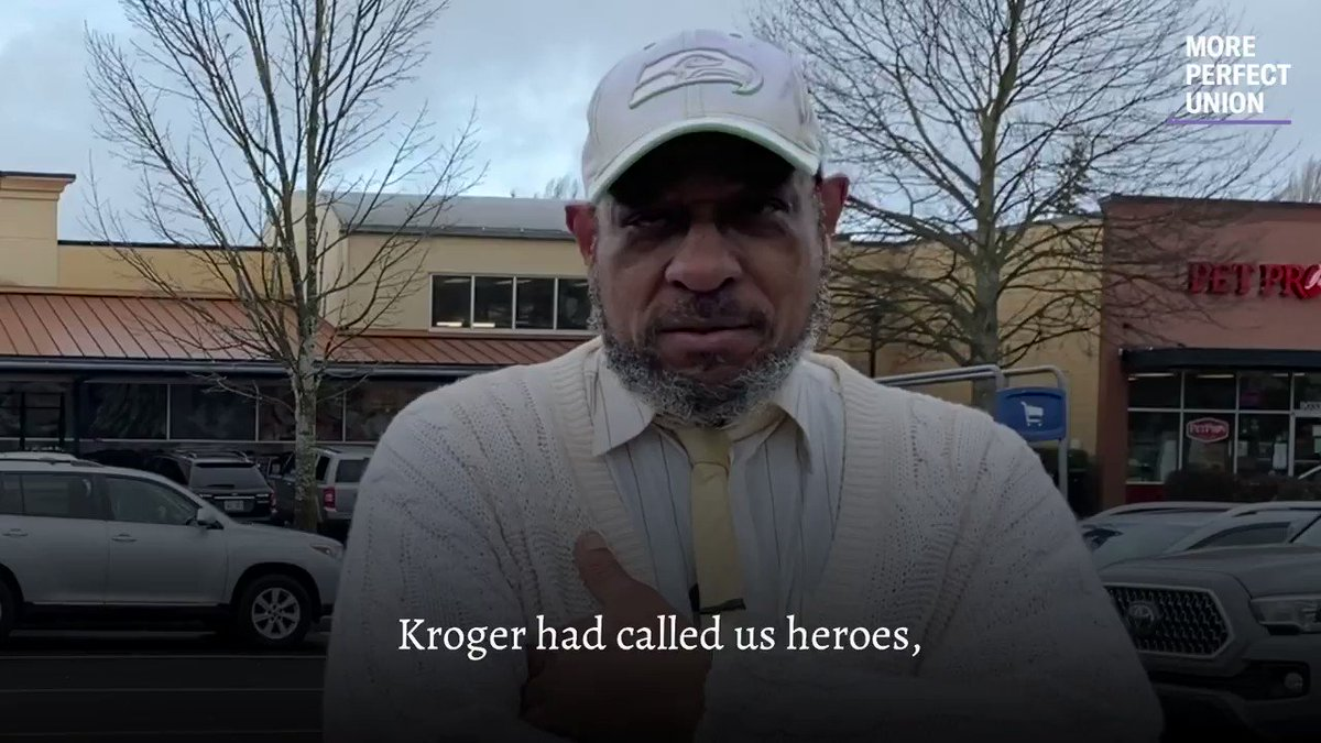 NEW: @Kroger is the U.S.'s largest grocery chain. It has made $2.9 BILLION in pandemic profits.  Now it's shuttering stores in multiple states just to avoid giving employees $4/hour hazard pay.   We spoke to the Kroger workers who are about to lose their jobs.