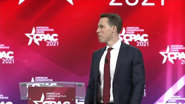 """Sen. Josh Hawley: """"There is no way that we're going to back down. We're not going to back down to the woke mob. We're not going to back down to the cancel culture."""" https://t.co/cfTz5UVXab"""