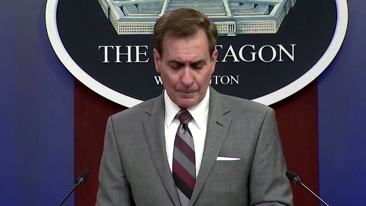 Pentagon spokesman John Kirby said that two Air Force F-15E Strike Eagles launched seven missiles on infrastructure used by Iranian-backed militant groups in Syria