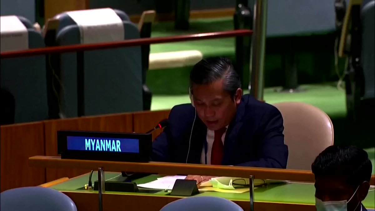 Myanmar's U.N. ambassador Kyaw Moe Tun was fired a day after he urged the United Nations to use 'any means necessary' to reverse the Feb. 1 military coup https://t.co/H7o8CPP954 https://t.co/9mUl21hjws