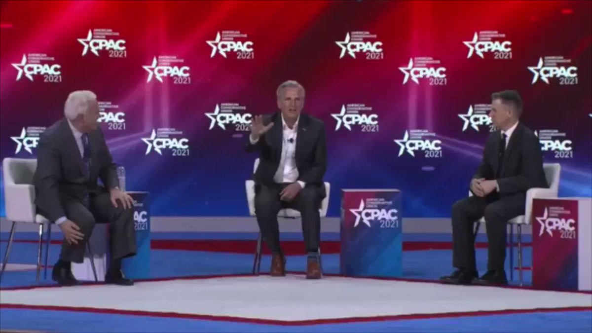 """#CPAC: House GOP Minority Leader Rep. Kevin McCarthy says """"I would bet my personal house"""" that the GOP wins back House majority in 2022."""