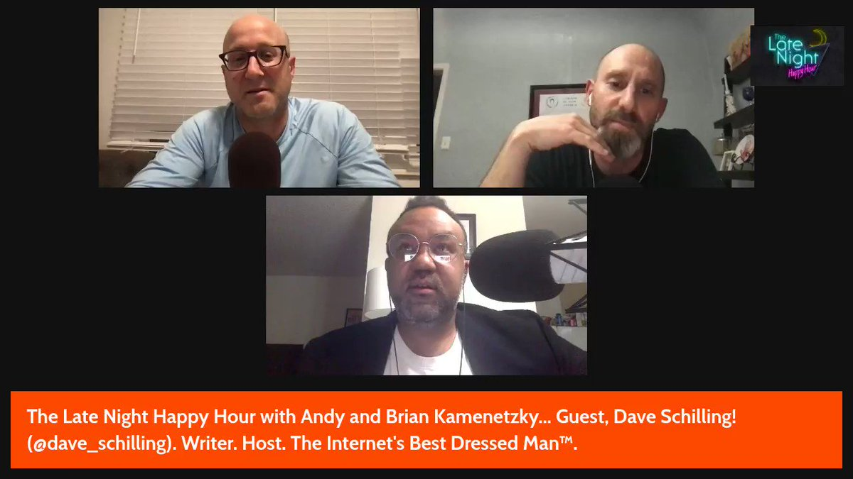 On Friday's Late Night Happy Hour, @dave_schilling explained his goals while serving as a co-executive producer of the new YouTube film #BlackRenaissance: The Art and Soul of Our Stories.  Monday: @alikhaneats, 10pm PT. #LNHH