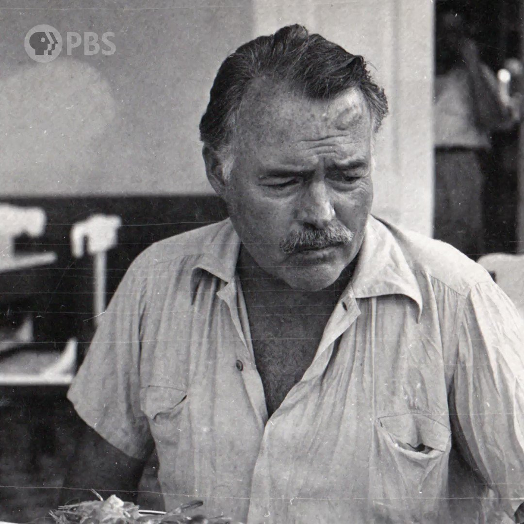 Fact or fiction? Ernest Hemingway nearly died after two plane crashes on successive days.  You know the myth of Hemingway. Discover the man during #HemingwayPBS, a film by @KenBurns and @LynnNovick. Premieres Mon, April 5 at 8/7c.