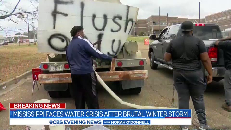 Frustration is boiling over in Jackson, Mississippi, where the entire city has gone two weeks - two weeks - without safe drinking water. @CBSNews' @JanetShamlian is there with the latest on the fallout from Februarys deep freeze.