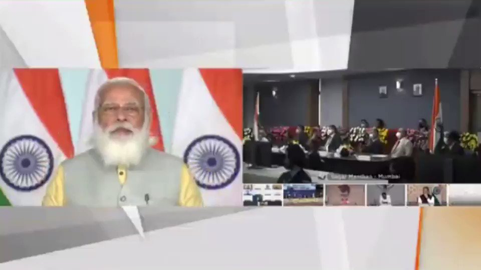 Through this #MaritimeIndiaSummit, I want to invite the world to come to India and be a part of our growth trajectory India is very serious about growing in the maritime sector and emerging as a leading Blue Economy of the world -Honble PM Shri @NarendraModi Ji