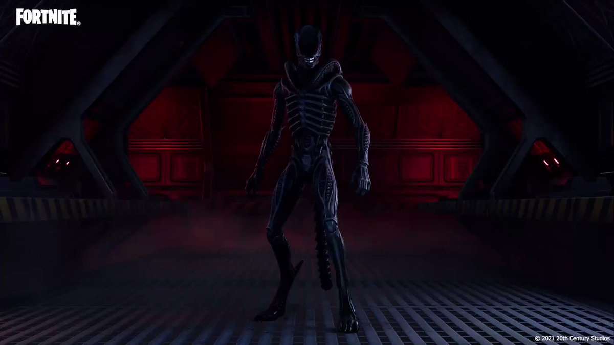 Don't spoil your appetite.  Grab the Xenomorph Outfit with the built-in Xeno Menace Emote in the Shop now!