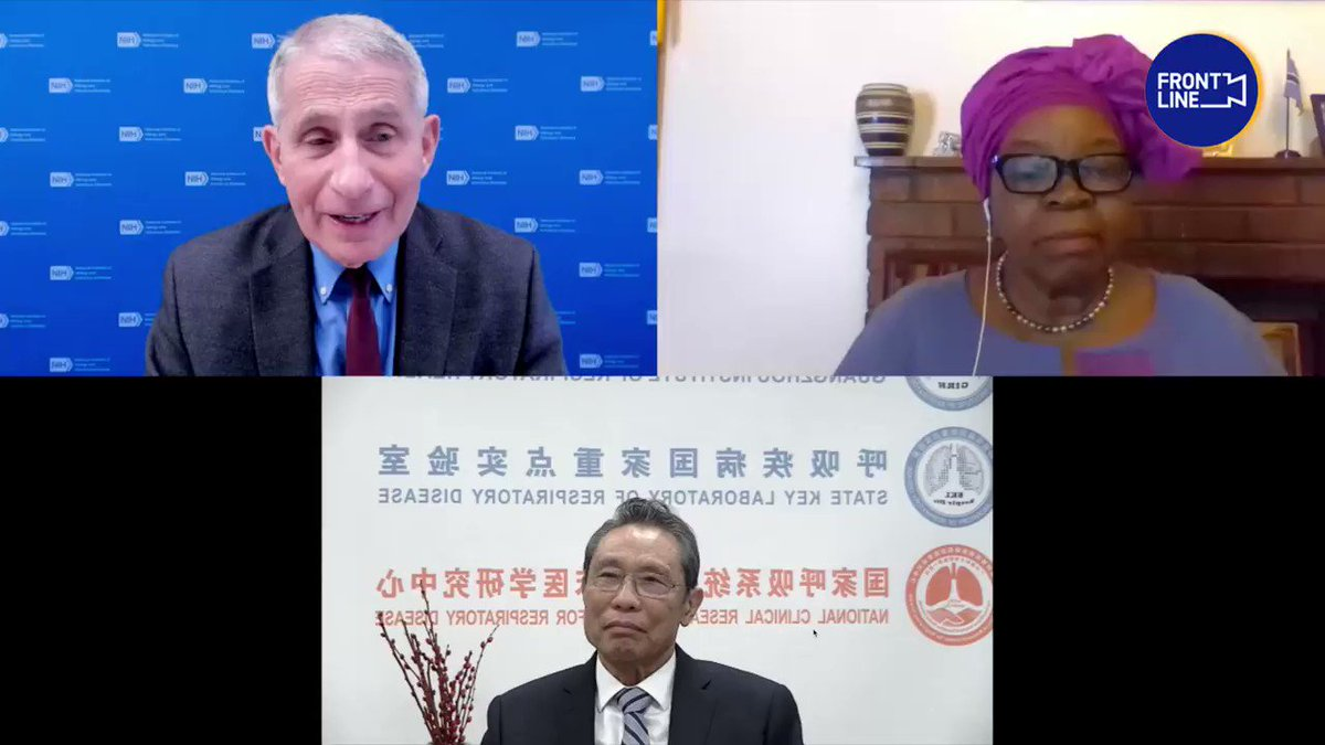 🇺🇸Dr. #Fauci & 🇨🇳Zhong: It will be terribly shameful if we forgot the lessons we learnt from #COVID19. #US #China #EdinburghFuturesConversations