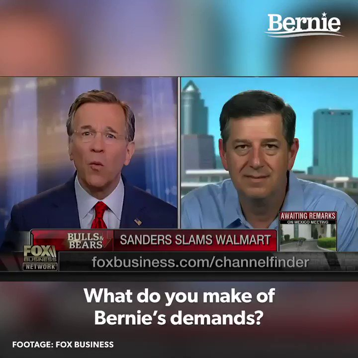 I say to the Walton family of Walmart: the American people are sick and tired of subsidizing your greed. Pay your workers a living wage.