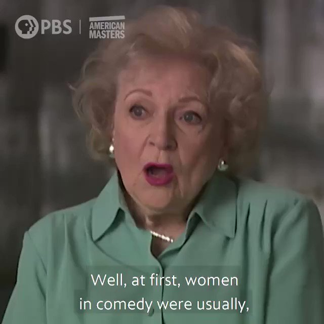 """A big misconception was that you can't be funny and beautiful and smart."" —Betty White  Watch the full interview from @PBSAmerMasters ➡️ .  #AmericanMastersPBS #BettyWhite #WomensHistoryMonth"
