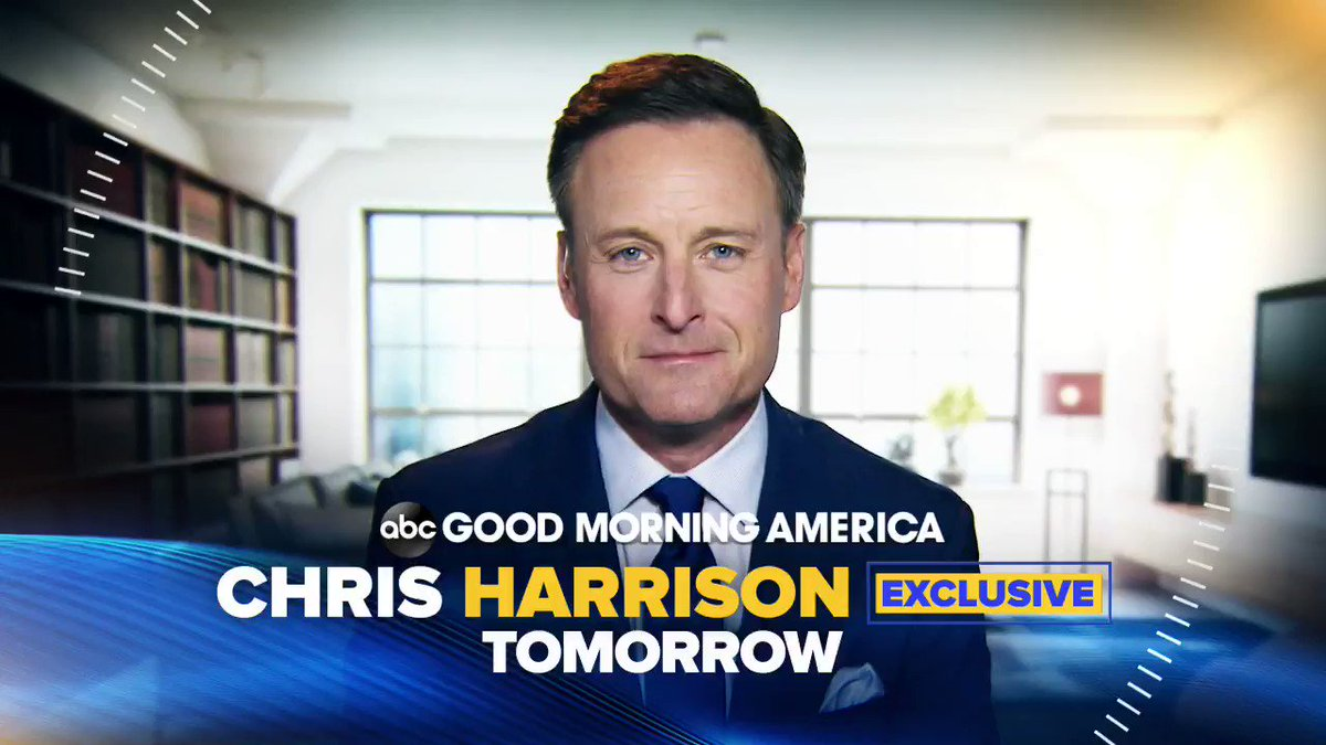 NEW: CHRIS HARRISON EXCLUSIVE: Tomorrow morning on GMA, Chris Harrison in his first interview anywhere since stepping away from #TheBachelor. Tomorrow on ABC's Good Morning America at 7 AM.