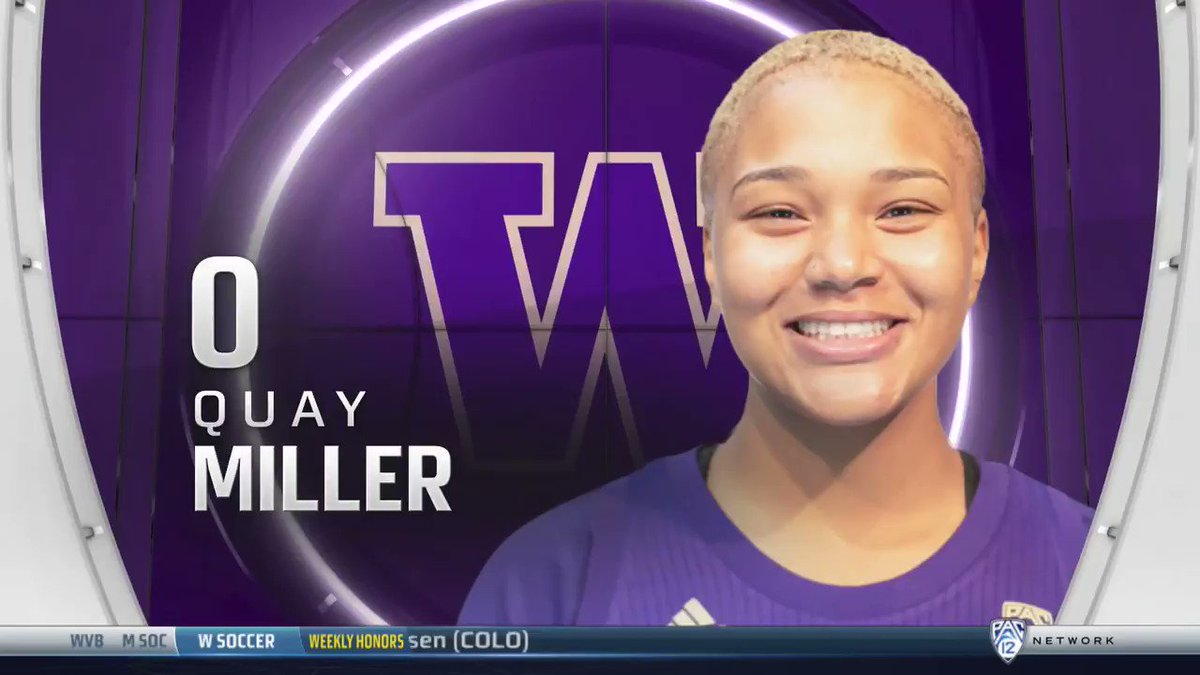Quay Miller closed out the first half of this game on a high note, she was the @Jockey Difference Maker in the Huskies win.  #Pac12WBB | @UW_WBB | #ThereIsOnlyOneJockey