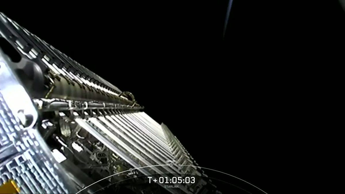 Replying to @SpaceX: Deployment of 60 Starlink satellites confirmed
