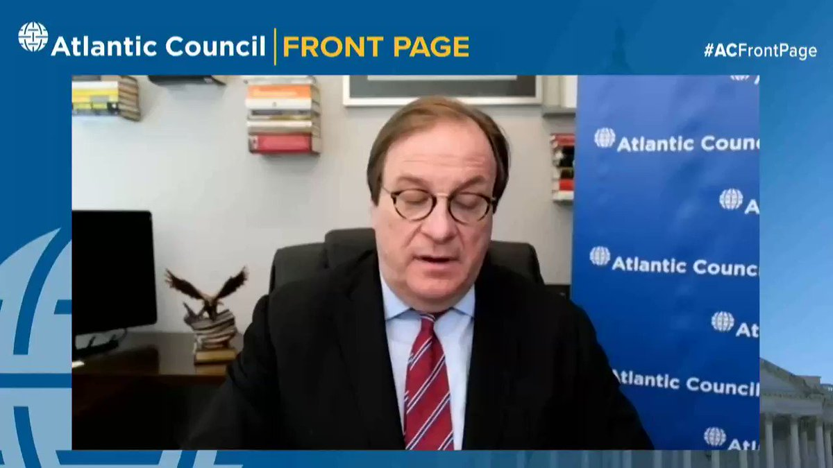 Atlantic Council President & CEO @FredKemp introduces today's esteemed #ACFrontPage guest, @YouTube CEO @SusanWojcicki!  Watch here to find out the crucial role @YouTubeInsider's Susan Wojcicki played in developing digital tools we use in our daily lives: