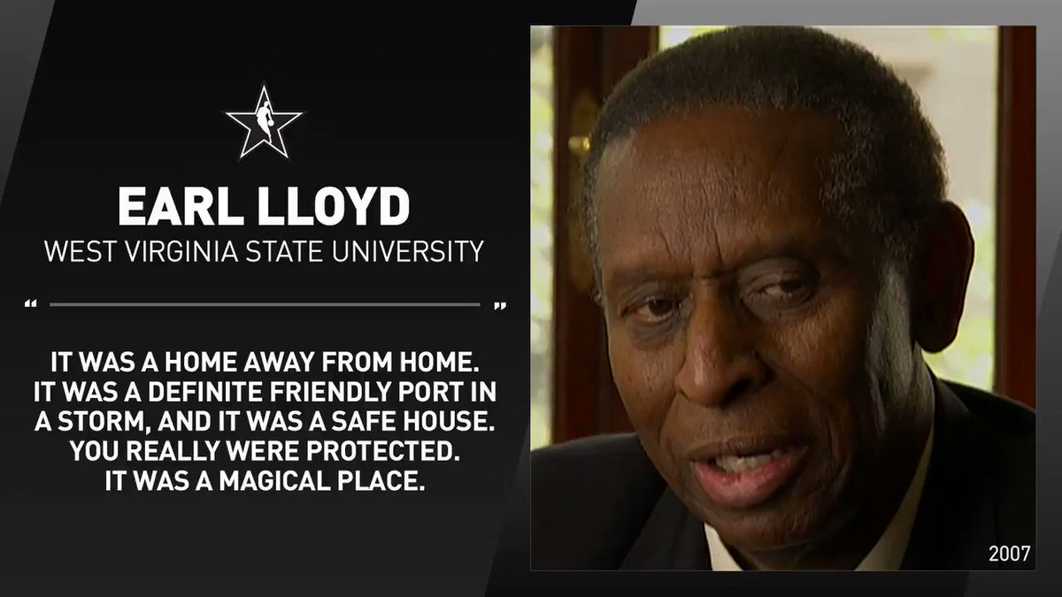 """It was a home away from home.""  Before passing in 2015, HBCU alum and NBA Pioneer Earl Lloyd reflected on his time at West Virginia State University."