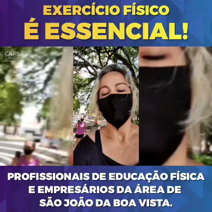 Profissionais de educação física e empresários da área de São João da Boa Vista foram para frente da prefeitura defender o direito ao exercício físico como essencial.  O exercício físico é benéfico tanto para a saúde física quanto a mental.