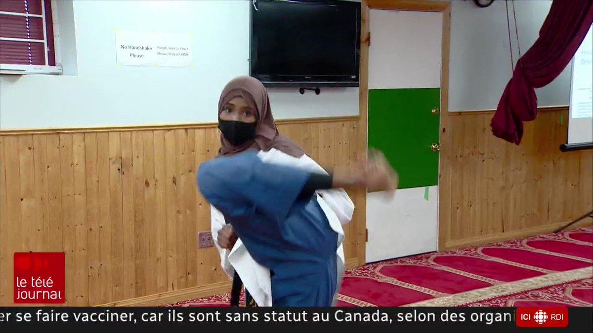 L'Alberta est frappée par une vague de crimes haineux envers les femmes voilées  Plusieurs agressions sont survenues au cours des derniers mois à Edmonton, où des manifestants racistes s'affichent de plus en plus ouvertement  Le reportage de @MathieuGohier au #TJ18H