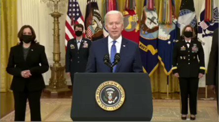 """#INTERNATIONALWOMENSDAY: President Biden says, """"It's hard to be what you can't see."""""""