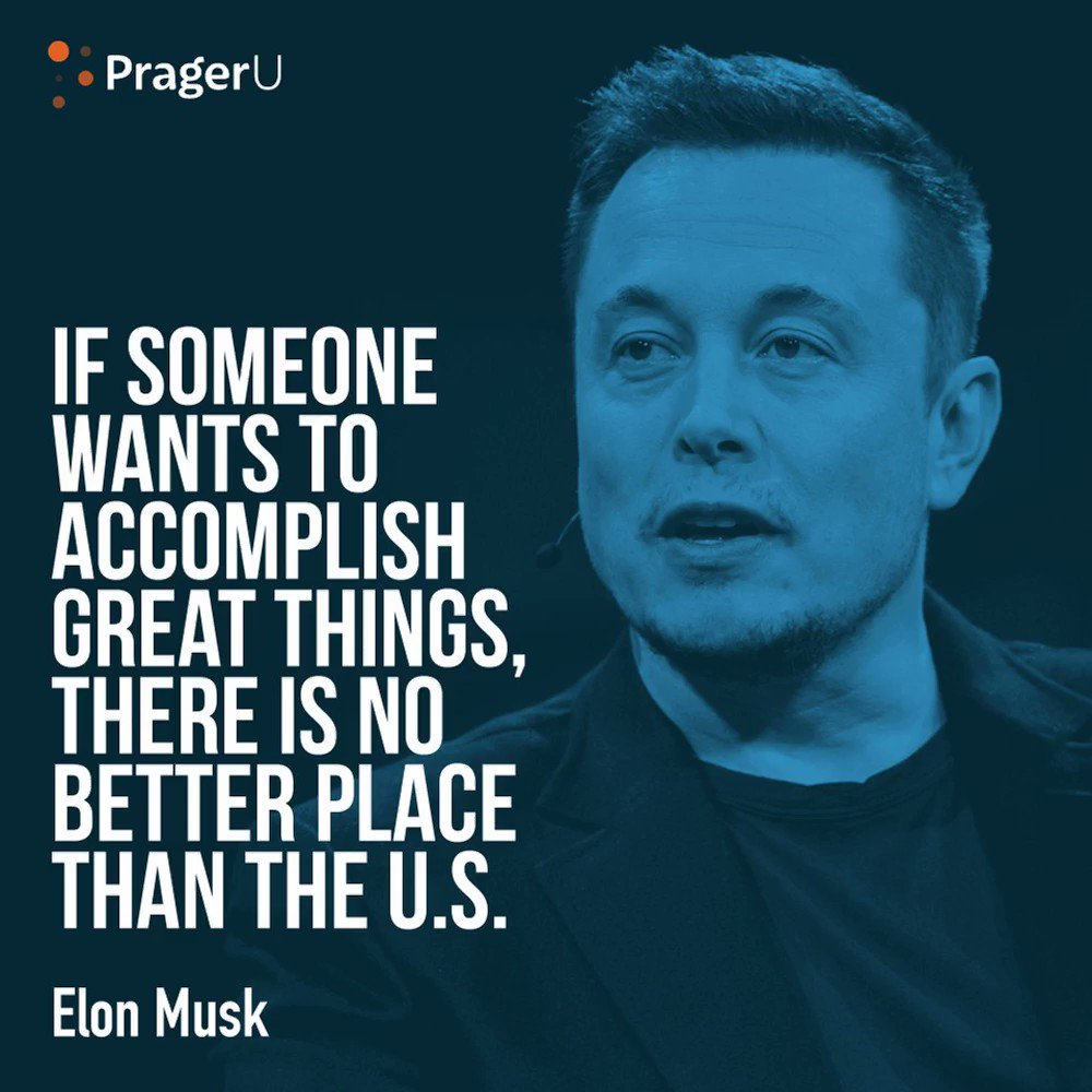 Image for the Tweet beginning: .@elonmusk is right. 🇺🇸