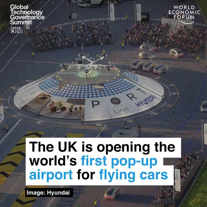 Coventry, UK is welcoming the world's first pop-up airport for #ZeroEmission flying cars, electric air taxis and #drones. Project funded by the Future Flight Challenge. #ISCF #NetZero #EVehicles