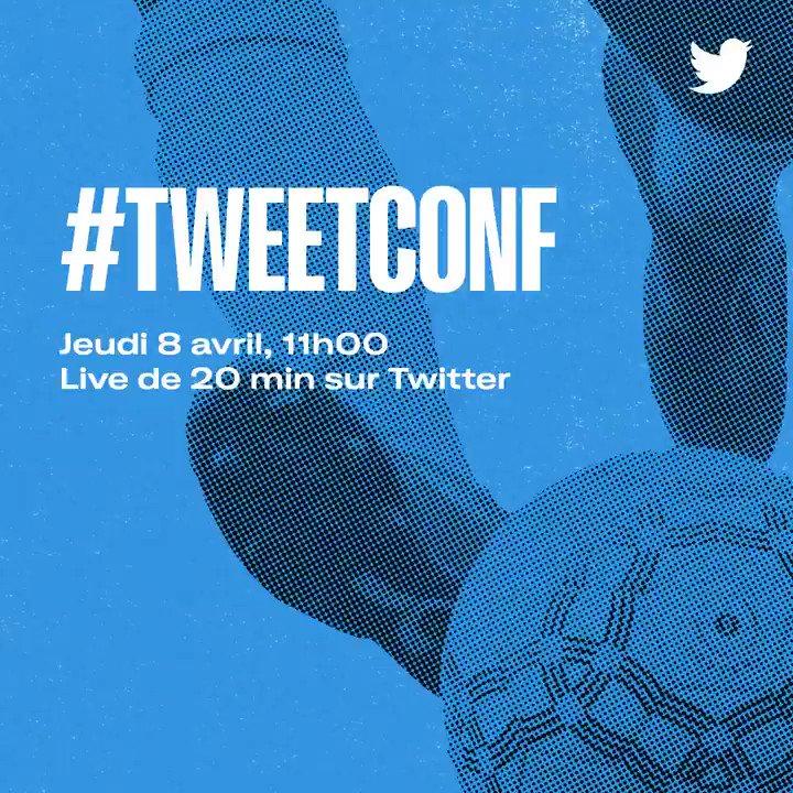 Jeudi 8 avril, 11h. Nouvelle édition de la #TweetConf.  Animée par @LinaBtura, @Nina_Macaigne et @MalikDjoulait.