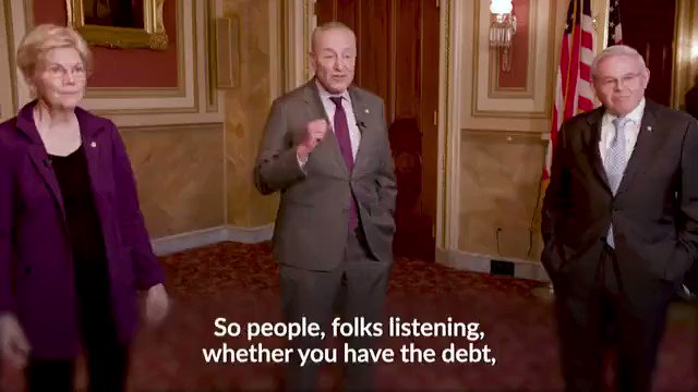 """Sen. Chuck Schumer on canceling $50,000 of student loan debt: """"We're asking you, email, call, write President Joseph Robinette Biden and tell him you want this done."""" https://t.co/qiq9xlySJE"""