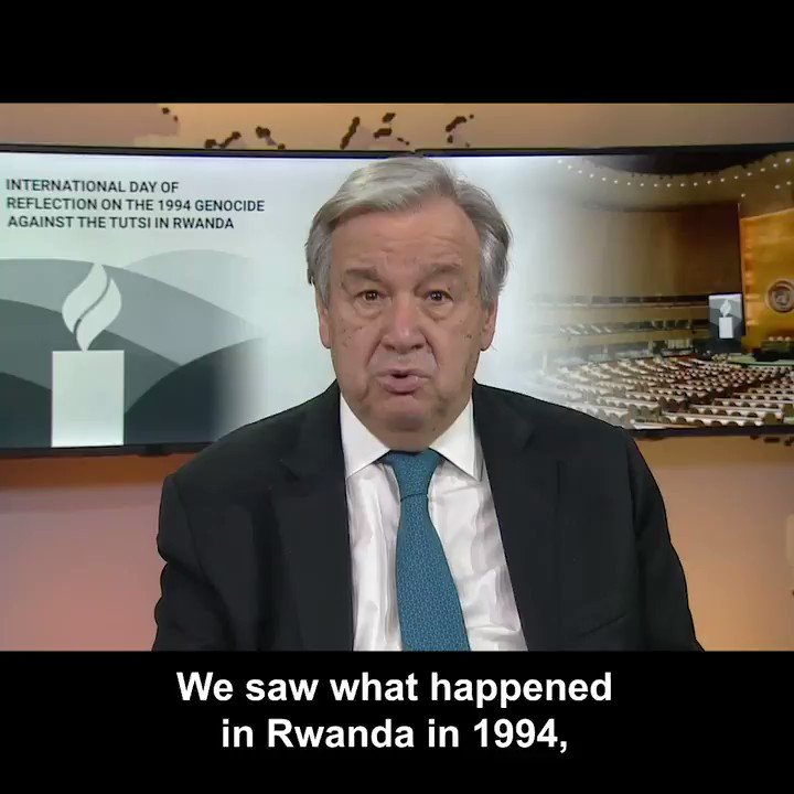 The genocide against the Tutsi in Rwanda remains in our collective conscience as among the most horrific events in recent human history.  To prevent history from repeating, we must counter hate-driven movements & push for the full respect of all members of society. #Kwibuka https://t.co/P3h3pYuiHw