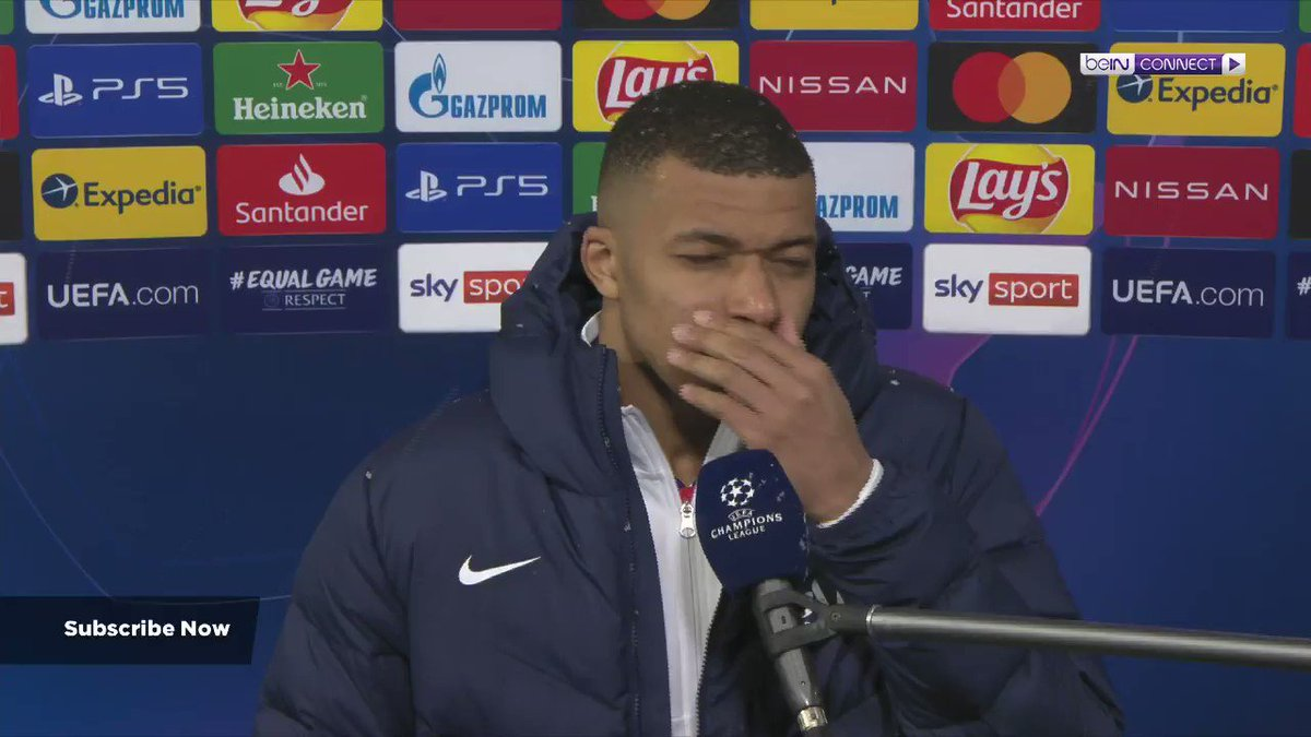 """""""I want to keep going like this, keep working hard!""""  Kylian Mbappé is trying to remain grounded ahead of the second leg, despite scoring a brace against Bayern Munich!   #beINUCL #UCL  Live Blog -  https://t.co/zZX06xEETG Watch Now - https://t.co/RRmQgctETJ https://t.co/he6WEAkwNi"""