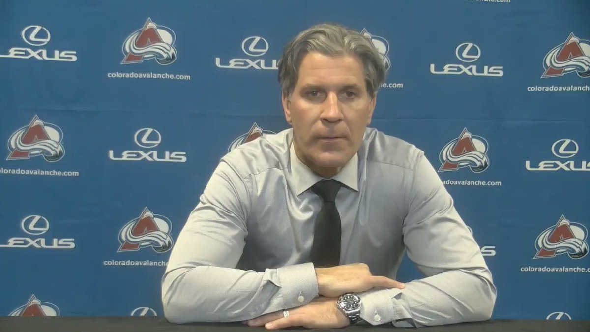 Coach Bednar shares his thoughts on tonight's win and who stepped up for the @Avalanche.  #GoAvsGo https://t.co/QCccmdpdEW