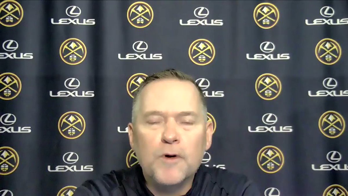 Here's @nuggets head coach, Michael Malone, speaking postgame where the main talking point was the injury to Jamal Murray.  #MileHighBasketball https://t.co/xN26sCSK8v