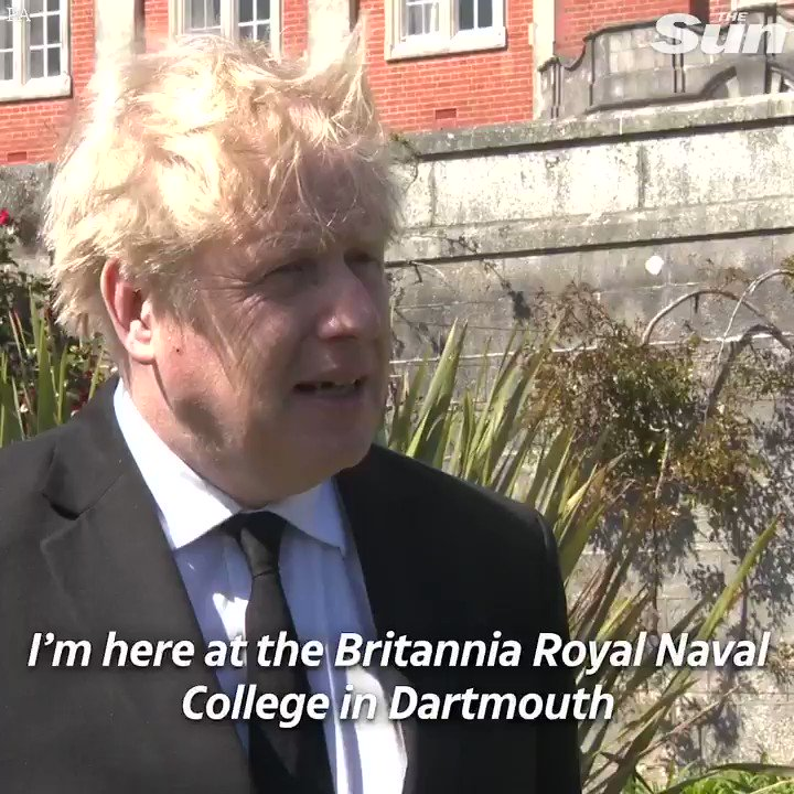 Boris Johnson visits the Naval College where Prince Philip was a cadet