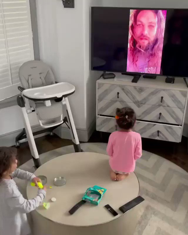 Aquaman defends the seas and makes 3-year-old's dreams come true. ❤️Watch his special birthday message for Dwayne Johnson's daughter, Tia: