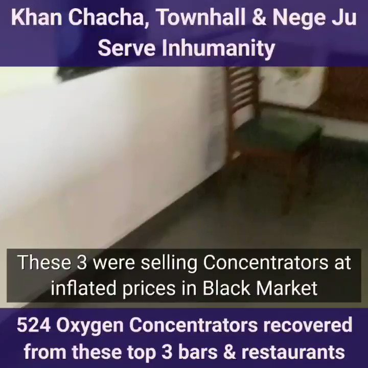 #Verified  👉524 oxygen concentrators seized from Delhi's top 3 restaurants & bars  👉Nege Ju, Khan Chacha & Townhall  👉They were selling them at inflated prices in the black market  👉Manager arrested but no action yet against the big fish- OWNERS  IG 👉 https://t.co/NYyI52ztAA https://t.co/y9rSPqBvSA