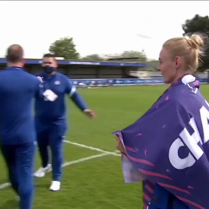 That winning feeling 🥰🏆   #CFCW https://t.co/MA9KD9OH9y