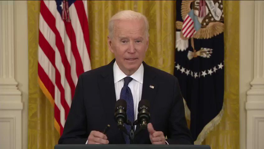 """Image for the Tweet beginning: President Biden: """"People will come"""