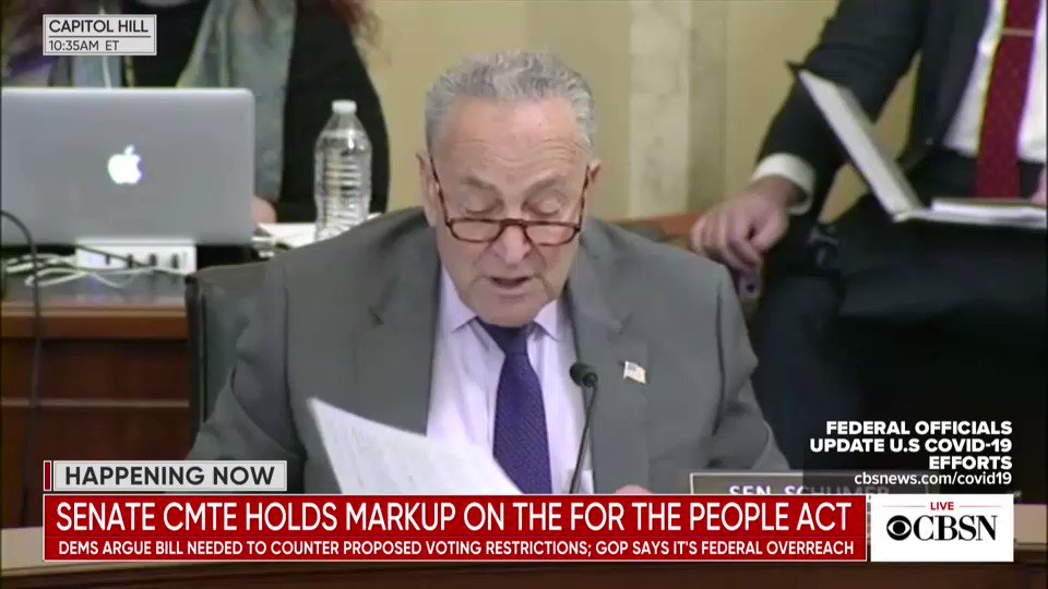 We agree with @SenSchumer. We must pass the For the People Act and protect everyone's sacred right to vote. https://t.co/dXgLEAupSA