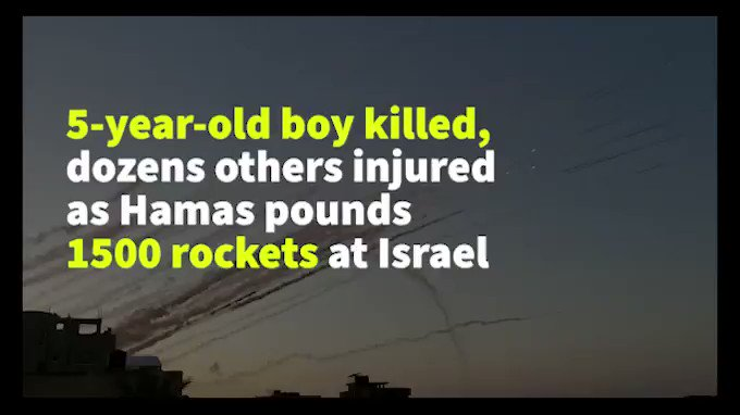 Image for the Tweet beginning: As rocket fire from #Gaza