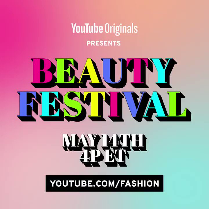 Get ready to get glam! ✨💄 Set a reminder for #BeautyFest, happening tomorrow May 14 at 4PM ET with @whoisaddison, @selenagomez, @BaileySarian, @skincarebyhyram, @thatonequeen, and lots more. →