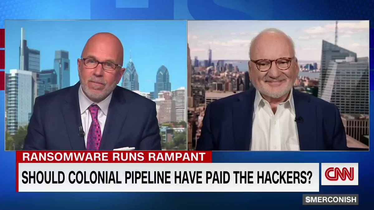The Biden administration could issue an executive order making it illegal to pay hackers ransom, Richard Clarke, former national coordinator for security and counter-terrorism, tells @smerconish after sources say Colonial Pipeline paid ransom to hackers.