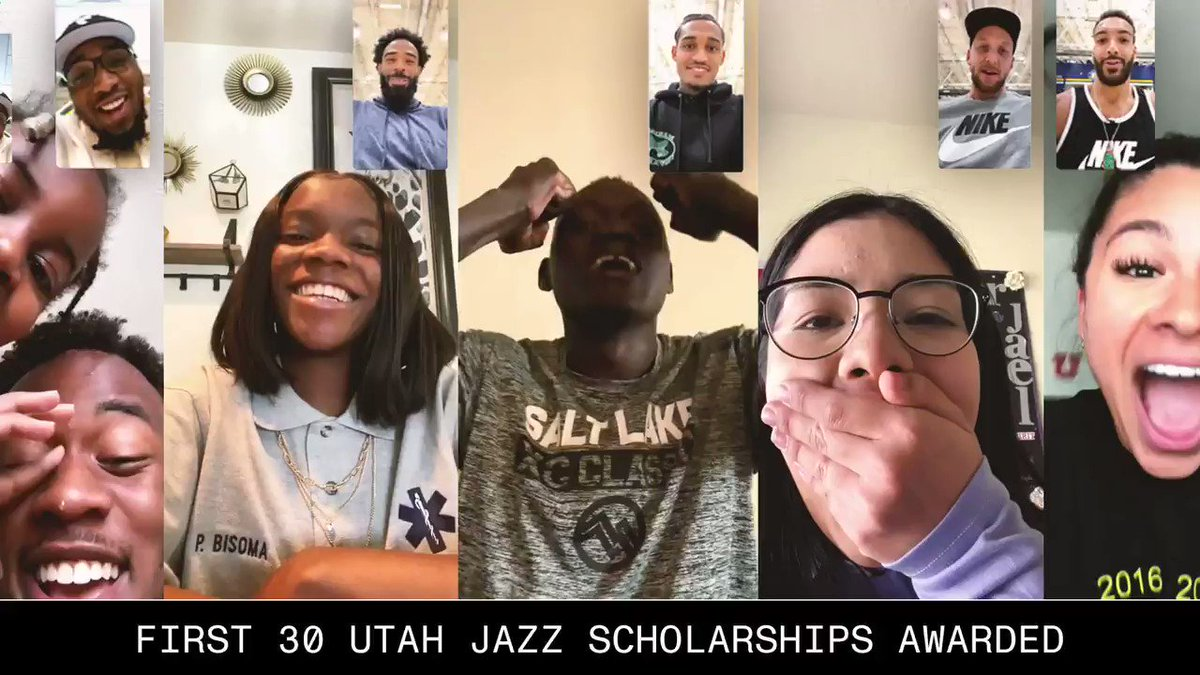 What's better than granting a scholarship for every Utah Jazz win this season?  Getting to tell the recipients that their life is about to change ❤️ https://t.co/7YPWho77TX
