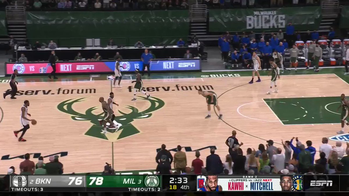 ▪️ KD & Khris trade clutch buckets ▪️ Jrue spins in for the go-ahead ✌️ ▪️ Milwaukee 🔒 late to seal the W  @Bucks vs. @BrooklynNets was INTENSE down the stretch! #ThatsGame   Game 4 - Sunday, 3 PM ET, ABC 🍿 https://t.co/71yv40QEBt
