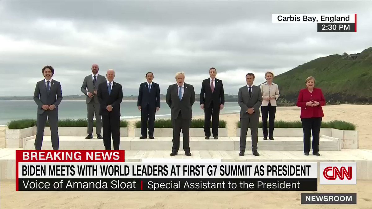 """World leaders pose for """"family photo"""" ahead of first day of G7 summit https://t.co/9ijuy1mkwf https://t.co/DY3FCmLAHc"""